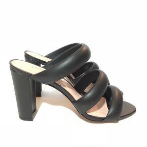 NWOT Avec Les Filles Black Mara Heeled Sandals